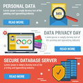 Three horizontal banners Data Privacy Day