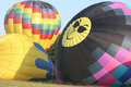 Three Hot Air Balloons Stock Photography