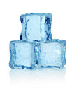Three ice cubes  Stock Photography