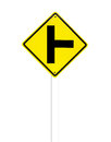 The three intersection traffic sign on white Royalty Free Stock Photos