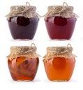 Three jar of jam and honey Royalty Free Stock Photo