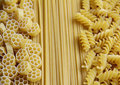 Three Kinds of Pasta Royalty Free Stock Photography