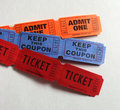 Three Kinds of Tickets Stock Photo