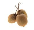 Three kiwi fruits isolated on white background Royalty Free Stock Photos