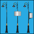 Three lamppost Royalty Free Stock Photo