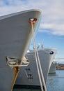 Three large ships. Royalty Free Stock Photo