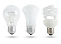 Three light bulb Royalty Free Stock Photo