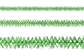 Three lines of green tinsel Stock Photo