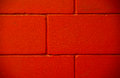Three lines red brick concrete painted wall Royalty Free Stock Photo