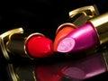 Three Lipsticks Royalty Free Stock Photo