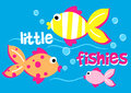 Three little fishies swimming in the sea Royalty Free Stock Photo
