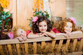 image photo : Three little girls, cute kids
