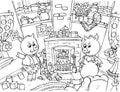 Three Little Pigs Royalty Free Stock Photo
