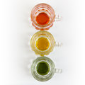 Three Little Pitchers in a Row Stock Photography