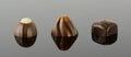 Three luxury chocolates Royalty Free Stock Photo