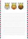 Three Magi letterhead Royalty Free Stock Photo