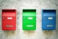 Three Mailboxes Royalty Free Stock Photo
