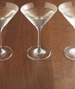 Three martini glasses Royalty Free Stock Images