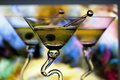 Three martinis with colorful background Stock Photo