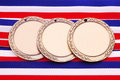 Three Medals #2 Stock Images