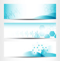 Three medical banners for web or print Royalty Free Stock Photography