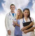 Three medical professionals Royalty Free Stock Images