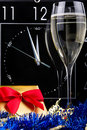 Three minutes to New Year Stock Photo