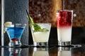 Three Mixed Drinks Royalty Free Stock Photo