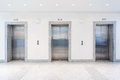 Three modern doors elevator Royalty Free Stock Photography