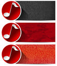 Three Musical Banners - N1 Royalty Free Stock Photo