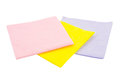 Three napkins on a white background isolated Royalty Free Stock Images