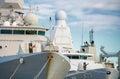 Three naval ships. Royalty Free Stock Photo