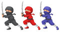 Three ninjas Royalty Free Stock Photo