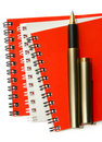 Three notebooks. Stock Images