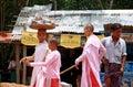 Three nuns walking in Pakokku Stock Photos