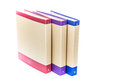 Three office binders lined up in a row Royalty Free Stock Photo