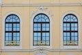Three old windows Royalty Free Stock Photo