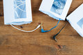 Three opened envelopes and  cables mini plug Royalty Free Stock Photo
