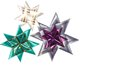 Three origami stars from ribbon Royalty Free Stock Images
