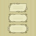 Three ornate frame for your content vector illustration of Royalty Free Stock Photography