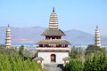 Three Pagodas Royalty Free Stock Photo