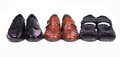 Three pairs of shoes Stock Image