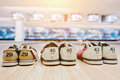 Three pairs of shoes for bowling Royalty Free Stock Photo
