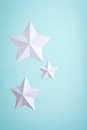 Three Paper Stars Royalty Free Stock Photo