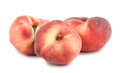 Three paraguayos flat peaches on white background Stock Images