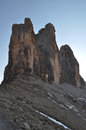 The three peaks of lavaredo september Royalty Free Stock Photo