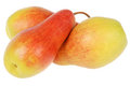 Three pears on white Royalty Free Stock Photo