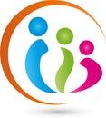 Three people, people and team logo