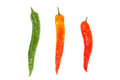 Three pepper paprika colorful. Royalty Free Stock Photos