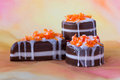 Three pieces of soap in form of cakes Royalty Free Stock Photo